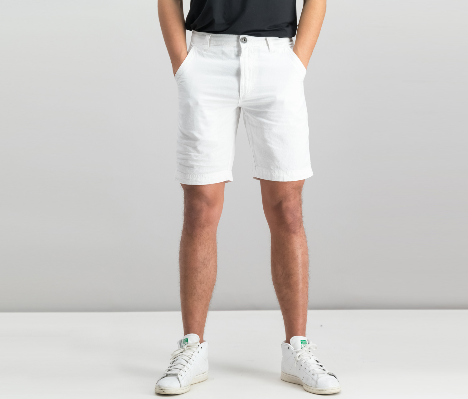 International Concepts Mens Flat-Front Short, White Pure