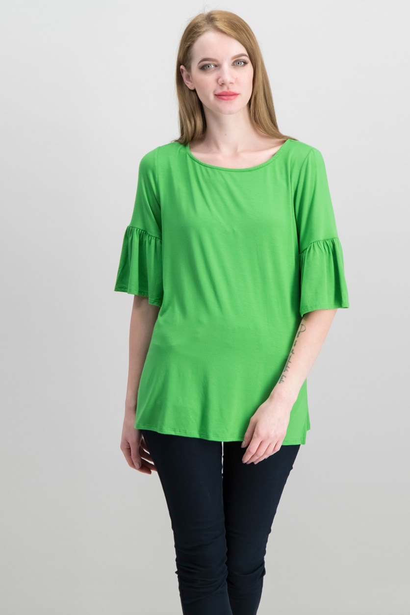 Bell-Sleeve Top, Grass