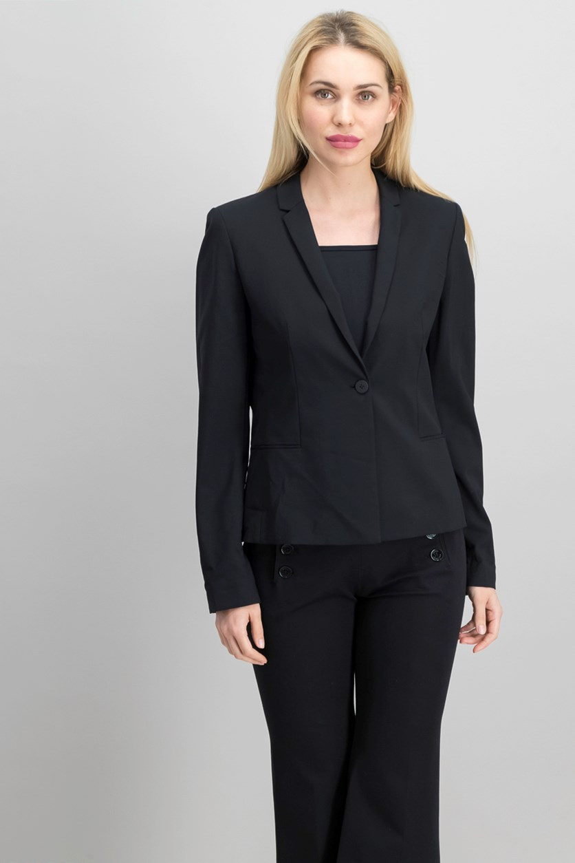 Women's Long Sleeve Alma Blazer, Black