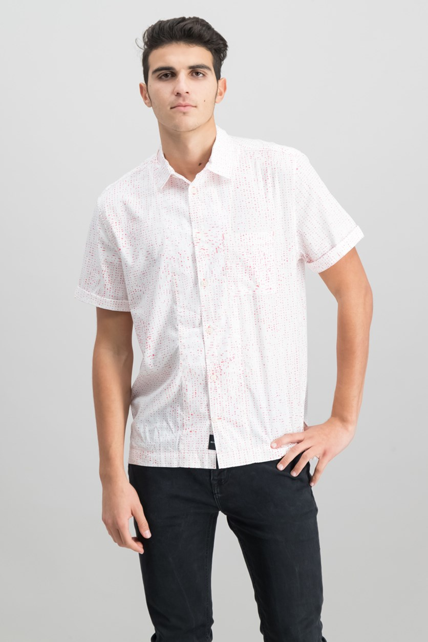 Mens Printed Camp Shirt, Sunset