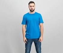 DKNY Mens Mercerized Solid T-Shirt, Mykonos Blue