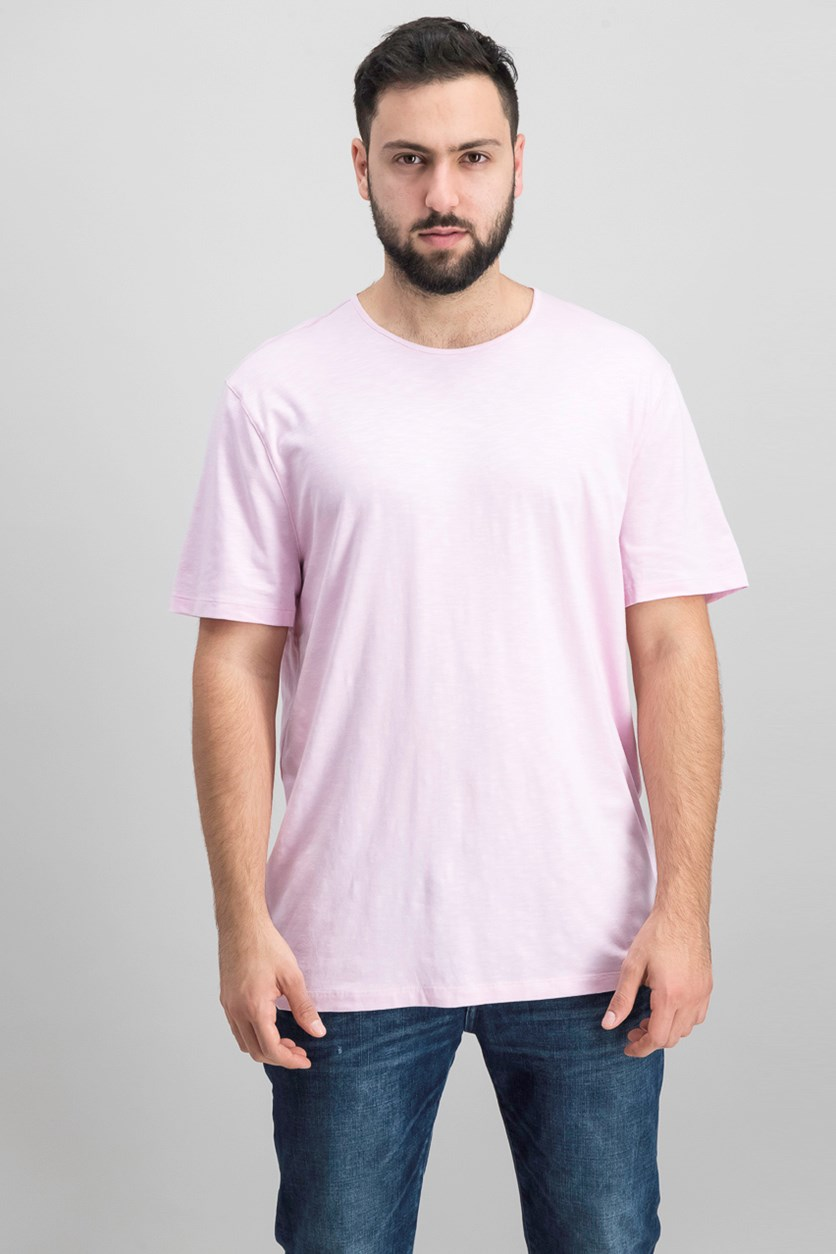 Men's Mercerized Solid T-Shirt, Pink Mist