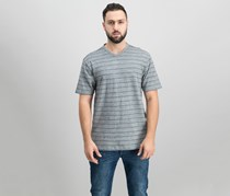 Dkny Men's Twisted Textured Stripe V-Neck T-Shirt, Excalibur