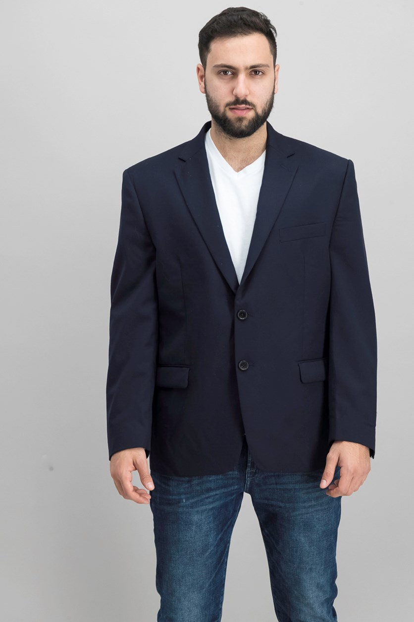 Mens Two Button Jacket, Navy