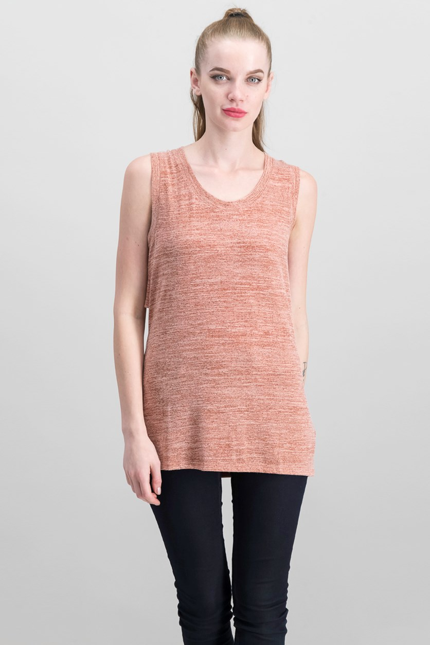 Women's Cutout Back Top, Terra Cotta
