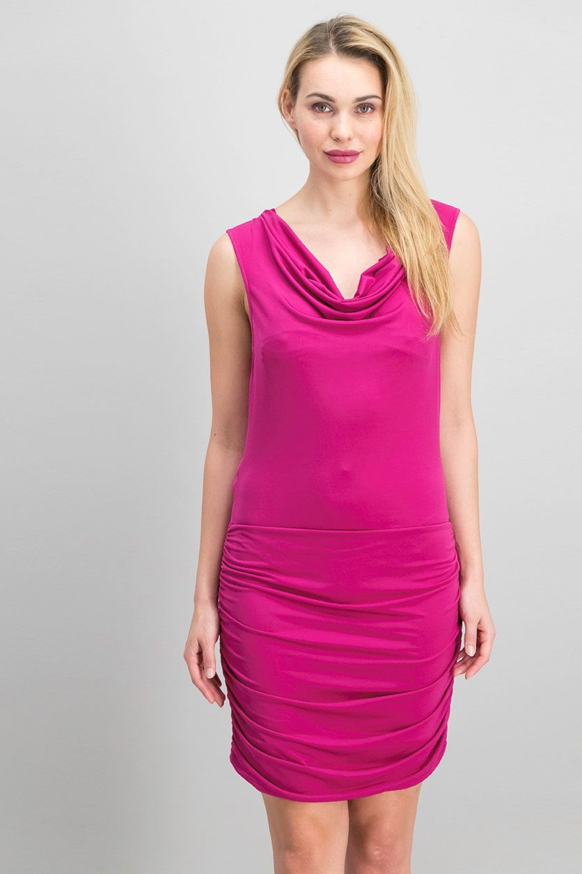 Women's Shirred Side Dress, Orchid