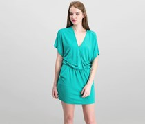 Bobi Black Women's Dolman Buckle Back Dress, Seafoam