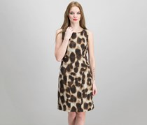 Calvin Klein Animal Printed Dress, Neutral/Black