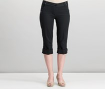 Women Crop Pants, Black