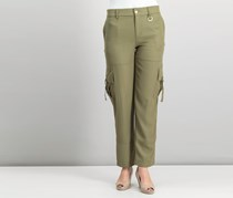 DKNY Women Cargo Pants, Military Green