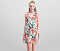 Xoxo Junior's Printed Cutout Dress, White/Red/Green