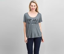 Project Social T. Women's Graphic Print Top, Heather Charcoal