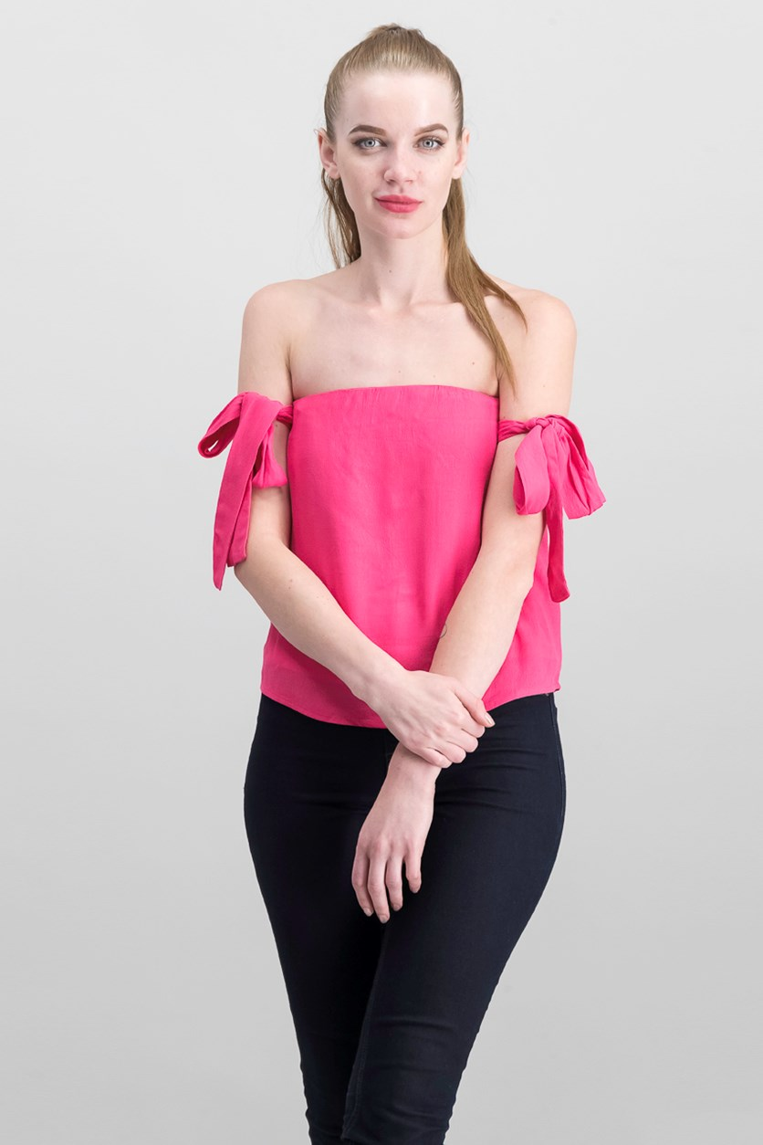 Womens Off The Shoulder Top, Pink