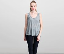 J Brand Women's Sleeveless Tank Top, Heather Grey
