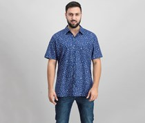 Tori Richard Men's Graphic Shirt, Navy