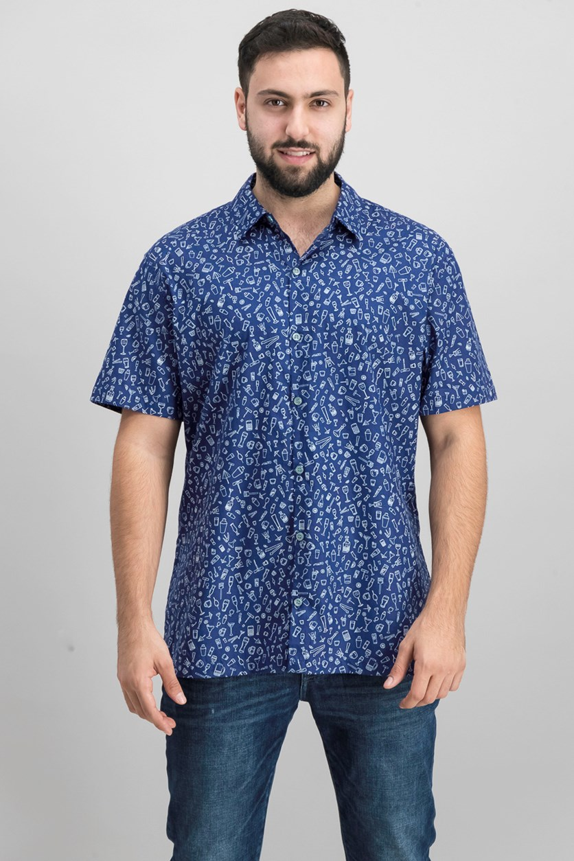 Men's Graphic Shirt, Navy