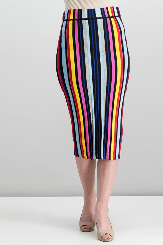 74c62e2f66 Rachel Roy Multi-Stripe Pencil Skirt, Radiant Red Combo