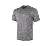 Greg Norman Mens Heathered T-Shirt, Soft Black/Charcoal