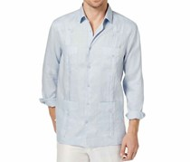 Tasso Elba Men's Linen Guayabera Shirt, Billowing Cloud