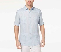 Tasso Elba Men's Linen Shirt, Billowing Cloud