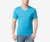 INC International Concepts Mens Heathered T-Shirt, Fjord Blue