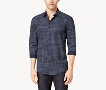 Alfani Men's Printed Shirt, Deep Twilight