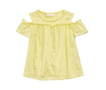 First Impressions Baby Girls Printed Cotton Cold-Shoulder Top, Sundrop