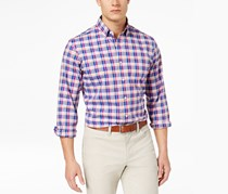 Club Room Mens Plaid Shirt, Rose Sorbet