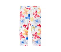 First Impressions Baby Girls Butterfly-Print Leggings,  Bright White