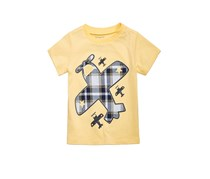 First Impressions Airplane-Print T-Shirt, Sunny Yellow