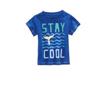 First Impressions Little Boys Graphic-Print Cotton Shirt, Lazulite