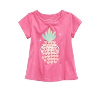First Impressions Baby Girls Graphic-Print Cotton Tunic, Berry Blast