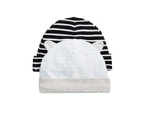 First Impressions 2-Pk. Striped Printed Hat, Icy Blue Combo