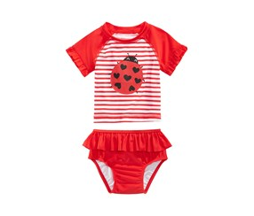 First Impressions Baby Girls 2-Pc. Ladybug Swimsuit, Red