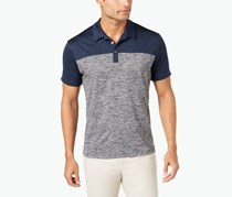 Alfani Men's Wrinkle-Resistant Colorblocked Ethan Polo, Lucky Blue