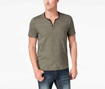 I.n.c. Speckled Henley Shirt, Green Tea