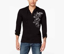 International Concepts Men's Embroidered Dragon Hoodie Sweaters, Black