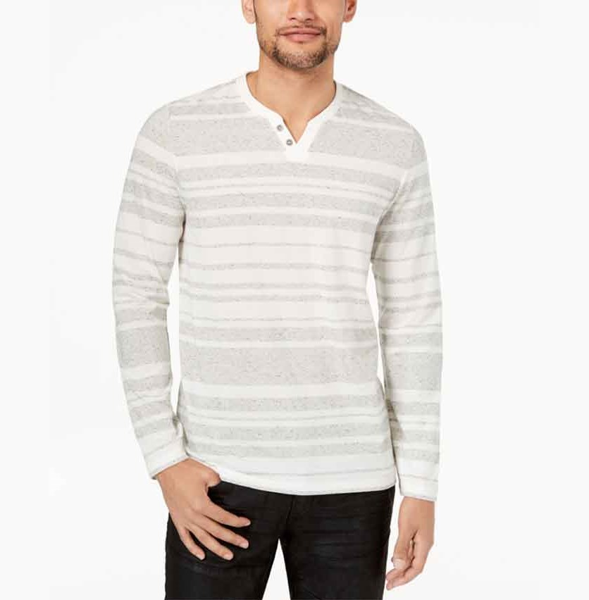International Concepts Men's Striped Long-Sleeve, White Combo