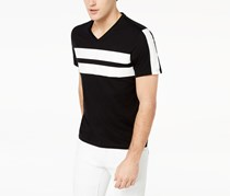I.n.c. Men's Racing Stripe T-Shirt, Black