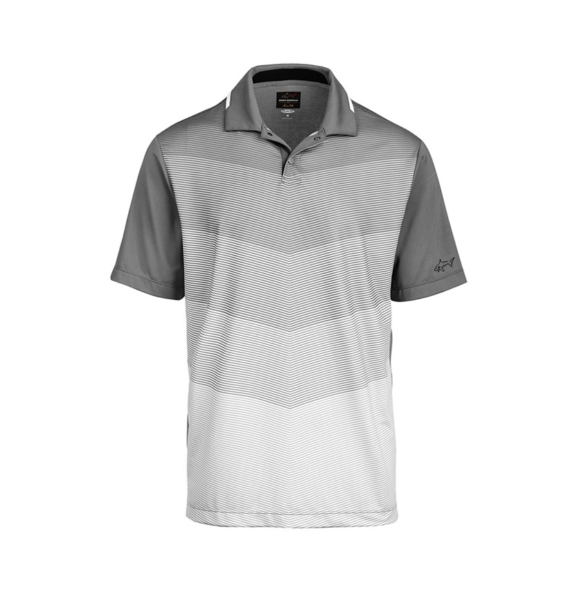 Mens Chevron Print Polo, Shark