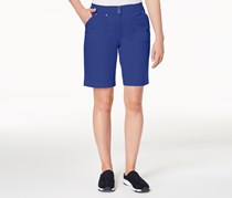 Karen Scott Petite Bermuda Shorts, Ultra Blue