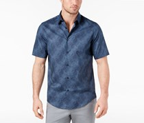 Alfani Men's Abstract Striped Shirt, Deep Twilight