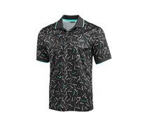 Greg Norman Mens Printed Polo, Stretch Limo