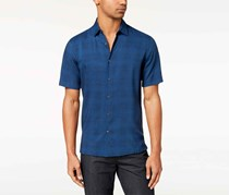 Alfani Men's Geo-Print Shirt, Ocean Night