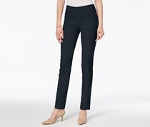 Charter Club Petite Tummy-Control Ankle Pant, Deepest Navy