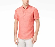 I.n.c. Men's Cameron Linen Shirt, Hot Sauce