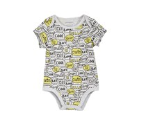 First Impressions Baby Boys Word Bubble Bodysuit, Slate Heather