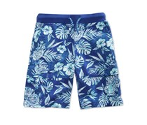 Epic Threads Floral-Print Cotton Shorts, Blue Combo