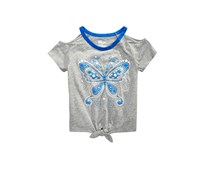 Epic Threads Girls Butterfly-Print T-Shirt, Pewter Heather