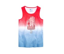 Epic Threads Rhinestone Ribbed Cotton Tank Top, Twinkle Blue/Red